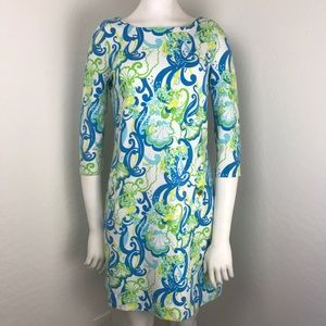 Lilly Pulitzer Ocean Seahorse Print Stretchy Dress